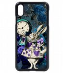 Vintage Retro Blues Licensed illustration Rabbit Wonderland Icons Mobile Phone Case Fits iPhone